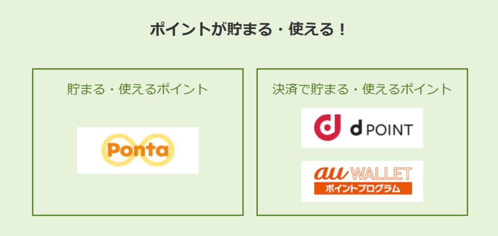 【dPOINT】・【auWALLET】